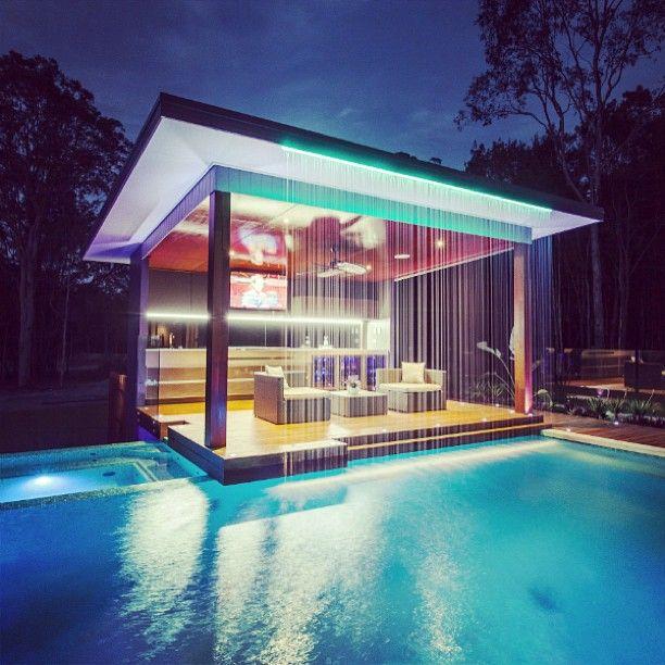 Stunning outdoor design with Vintec wine cabinets - Photo by Darren James Designer.