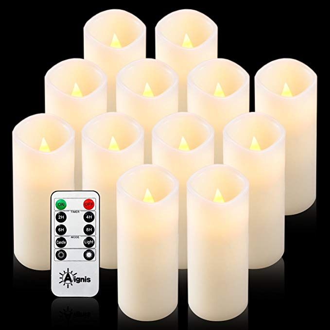 Aignis Flameless Candles Battery Candles Set Of 12 D2 2 X H6