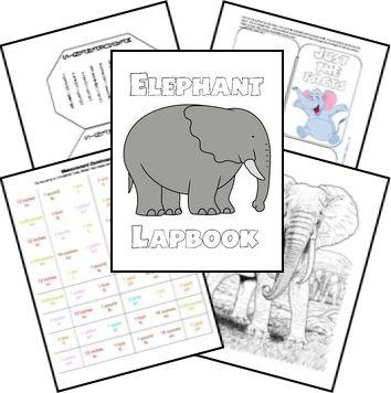 FREE Elephant Lapbook