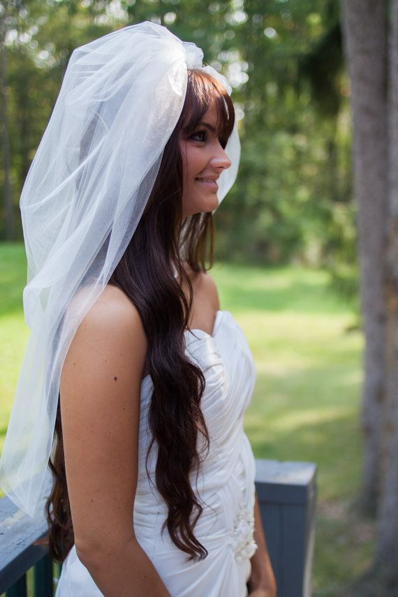 Portia - Modern Hand Made Ivory Wedding Bubble Veil