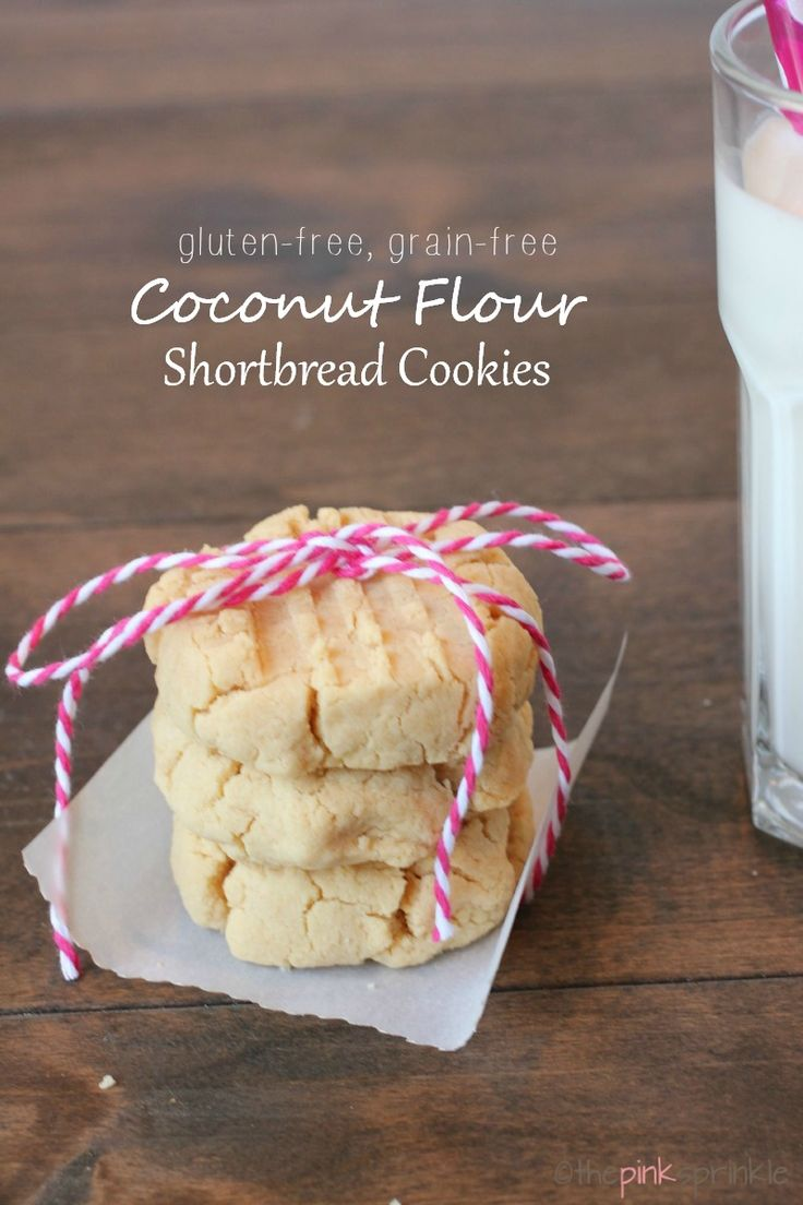 Coconut Flour shortbread cookies that are gluten-free and grain-free. They are light and crumbly and ready to eat in less than 15 minutes!