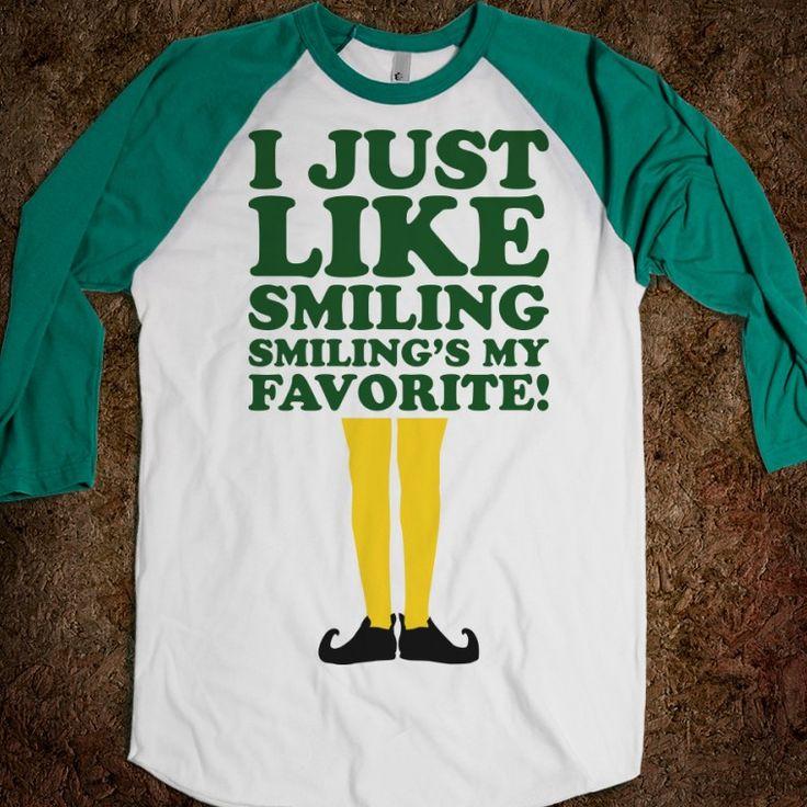 Elf Quotes Smiling: I Just Like Smiling (elf Baseball)