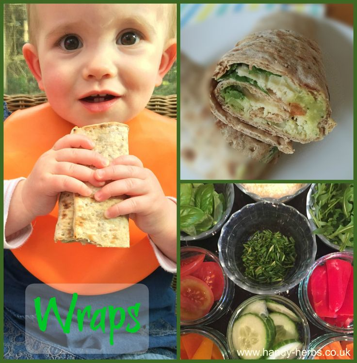 Vegetable and herb wraps for all the family. Making vegetable and herb wraps for lunch.. Healthy and tasty! Wraps are so versatile just allow your children to choose from a range of healthy fillings. If they have helped to make it, they are more likely to eat it. :-)
