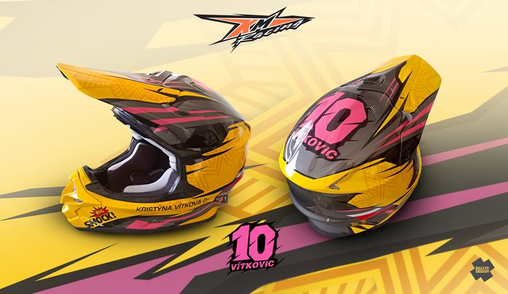 "New helmet design for a motocross rider Kristýna ""Vítkovic"" Vítková motocross rider"