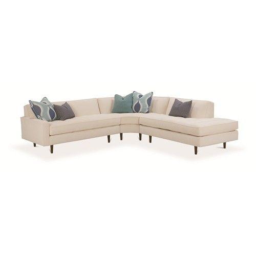 brady 3 piece sectional sofa by rowe