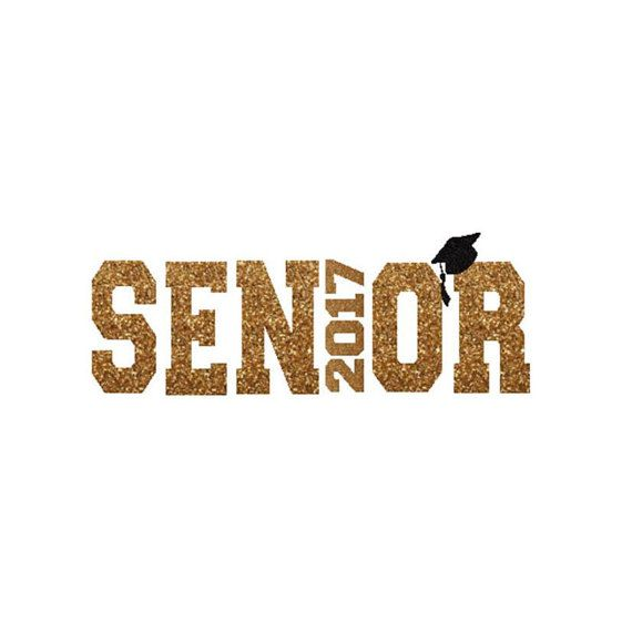 Senior 2017 Class of 2017 Senior Class DIY Iron On Letters by SweetSignatureDIY