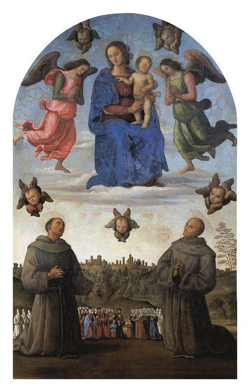 045-Гонфалон Мадонна Джустиция (Перуджино).jpg Национальная галерея Умбрии. Мадонна Справедливости (1496).