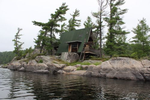 Spotted while on a canoe trip on the French River and Georgian...