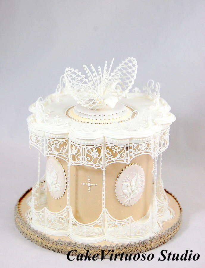 Lace Lily of the Valley by topsecretfairy - http://cakesdecor.com/cakes/231664-lace-lily-of-the-valley