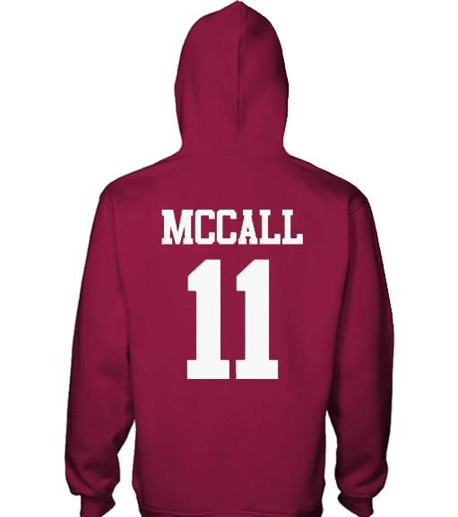 McCall Beacon Hills Lacrosse Hoodie This is a high quality hoodie made from 50% Cotton & 50% polyester. These hoodies are preshrunk.