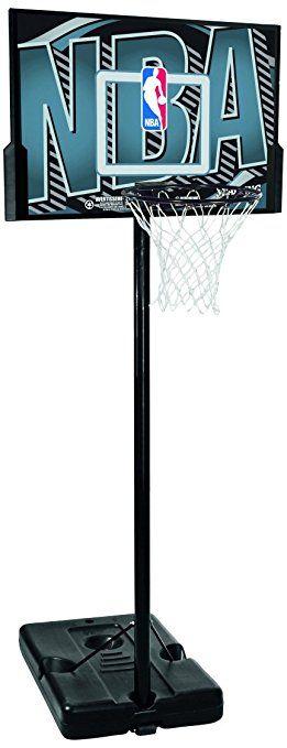 Ideal Spalding Basketballanlage NBA Logoman schwarz grau