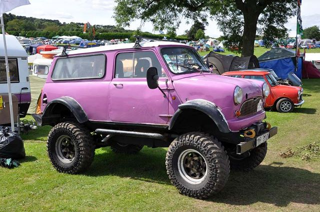 austin mini clubman monster truck in mauve cute vintage vehicles pinterest mini clubman. Black Bedroom Furniture Sets. Home Design Ideas