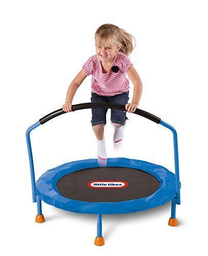 Trampoline Mini Indoor Kids New Toddler Fun Little Tikes 3 Metal Jumping Safety #LittleTikes