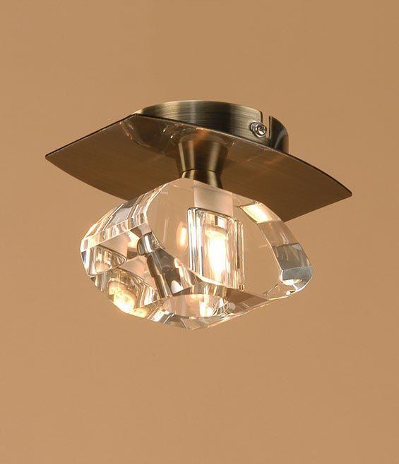 Plafón cuero 1 luz ALFA - La Casa de la Lámpara