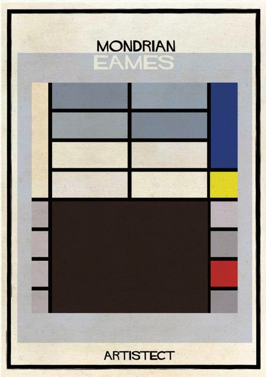 ARTISTECT: Famous Paintings With An Architectural Twist Mondrian - Eames