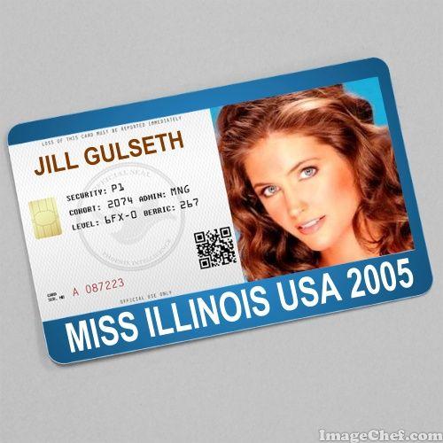 Jill Gulseth Miss Illinois USA 2005 card