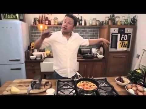 Джейми Оливер Как приготовить открытый омлет - YouTube