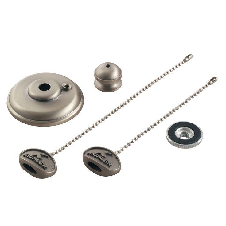 Kichler 337006 Ceiling Fan Finial Kit Accessory Mediterranean Walnut Ceiling Fan Accessories Light Kit Accessories Finials