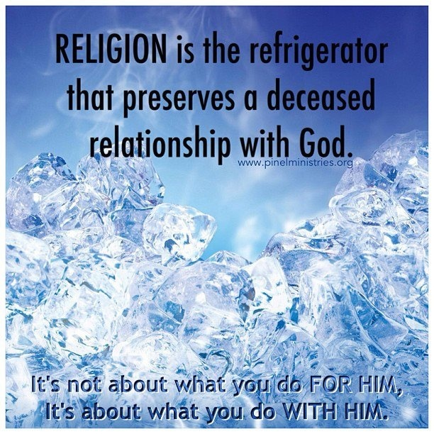 quotes about religion vs relationship