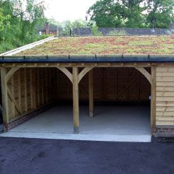 enclosed carport with storage shed