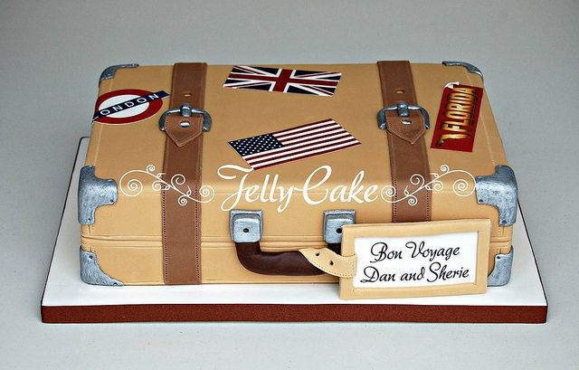 Bon Voyage Suitcase Cake | Flickr - Photo Sharing!
