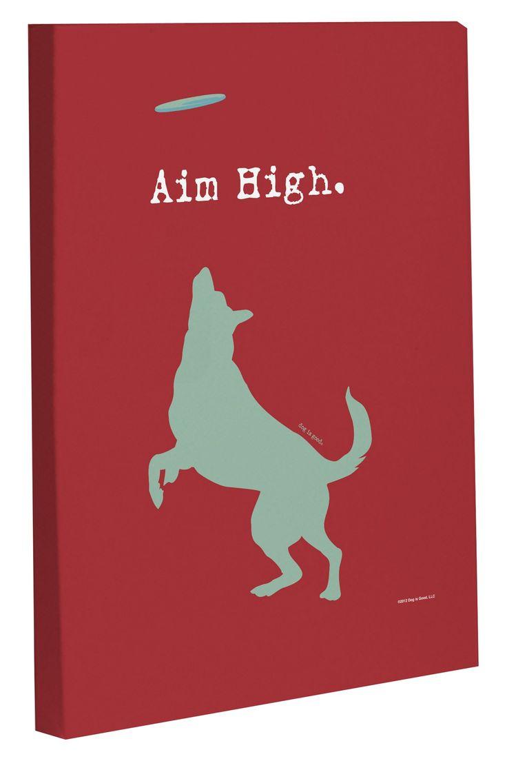 Aim High Dog Canvas