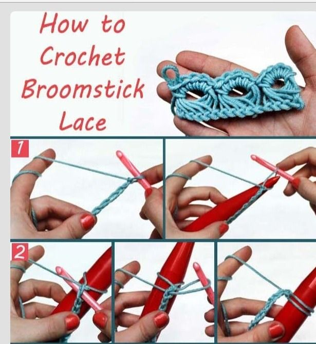 ✳️ How To Crochet Broomstick Lace ✳️