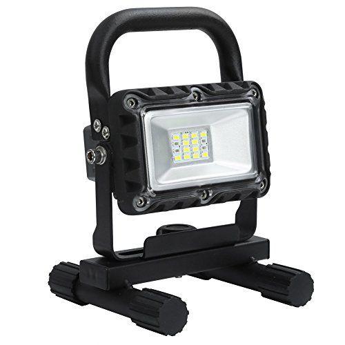 Rupse 8W LED Lumière de Travail Rechargeable Phare Portable Projecteur Outdoor étanche 590lm avec Fil de Chargement USB Lampe de Camping:…