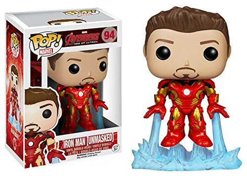 "Earlier available only as a Tony Stark POP Vinyl at the San Diego Comic-Con in 2013, this vinyl bobble head is a great deal. You can get the new ""Unmasked"" Iron Man Funko POP Vinyl's figure today at a fairly modest price. Check our review here: http://kielstoy.com/reviews/funko-pop-marvel-avengers-2-unmasked-iron-man-action-figure/"