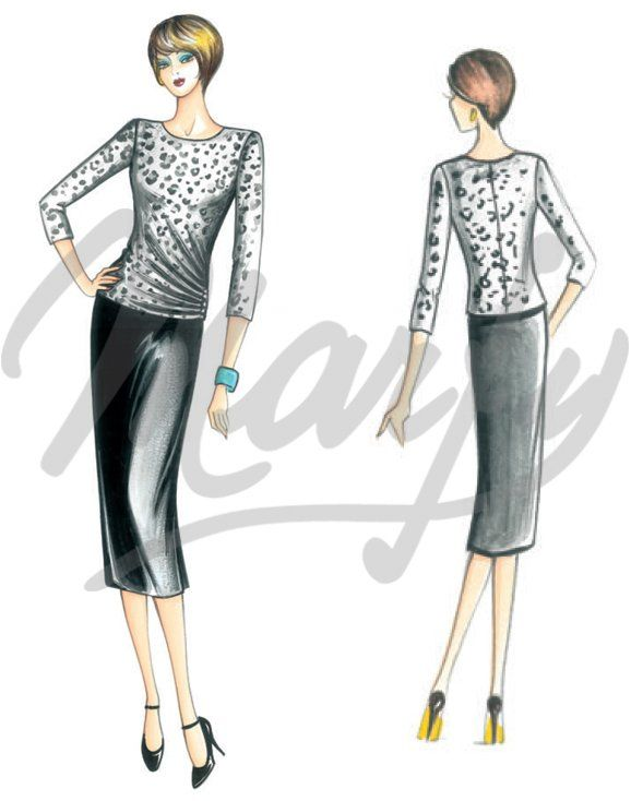 The Marfy hand made pre-cut sewing pattern :: Sewing pattern 3999 -