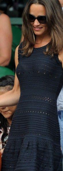 Blue crochet detailed dress (Pippa Middleton)