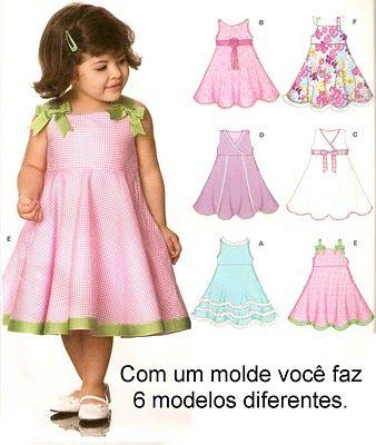 Alinhavos de Moda - Mania de inventar moda.: Para as mamães: Sobre vestidos infantis...
