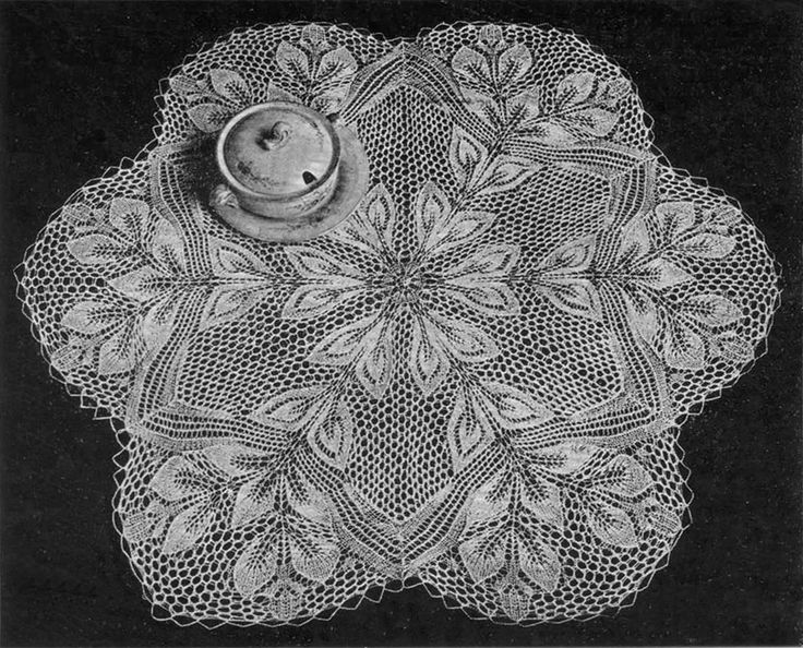 Six-Sided Doily In Knitted Lace By Herbert Niebling
