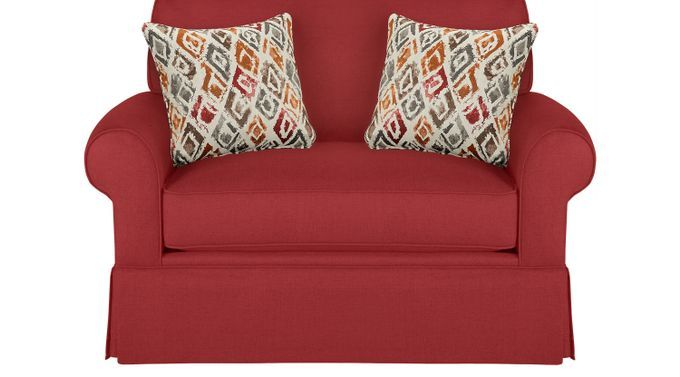 Provincetown Poppy (red)  Sleeper Chair - Transitional, Polyester