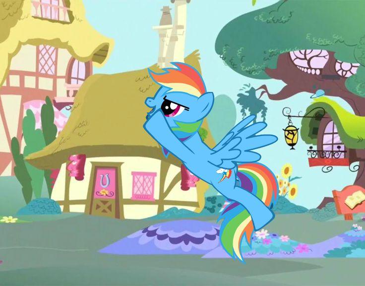 RAINBOW DASH: YAHOO IM FLYING OFF!