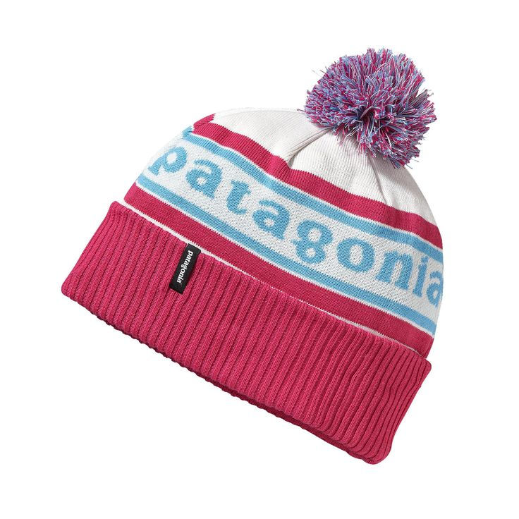 Old school and cool, the retro-style Patagonia Kids' Powder Town Beanie is showing up at bus stops and lift lines – wherever cold, gusting flurries prevail.