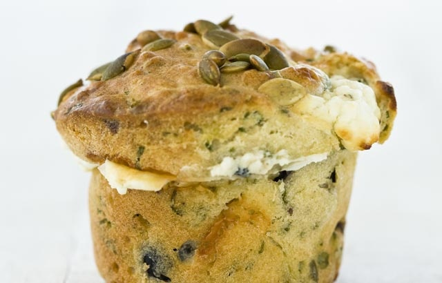 Olive, herb and feta muffins: Muffin Recipes, Herbs, Herb Muffins, Food, Feta Muffins, British Chefs, Olive Muffins, Muffins Recipe, Olives