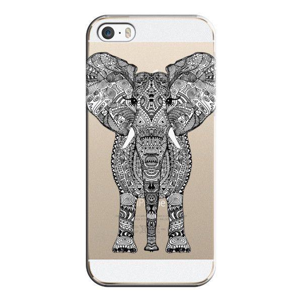 iPhone 6 Plus/6/5/5s/5c Case – AZTEC ELEPHANT CRYSTAL CLEAR