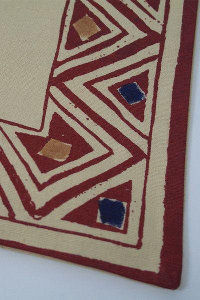 Border Print Cushion Close Up Detail
