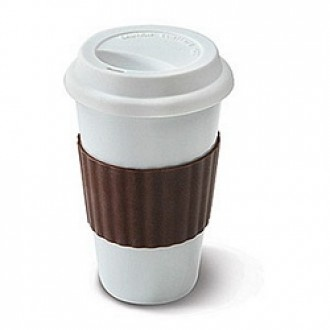 Eco Cup Porcelain Coffee With Silicone Lid Sleeve X Treme Geek