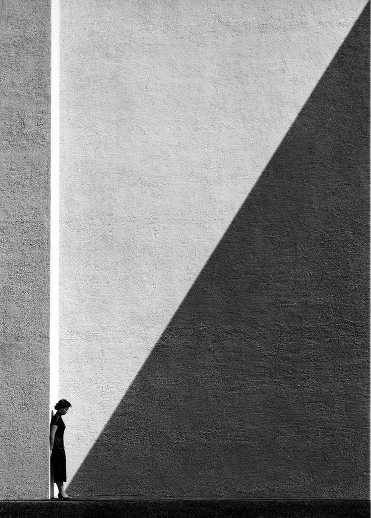 """Approaching Shadow"", by Fan Ho, Photography, 1954."