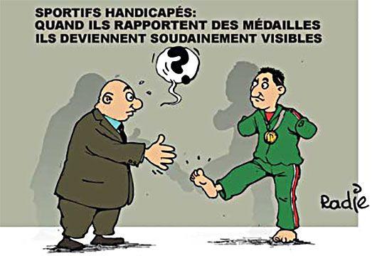 Ghir Hak (2016-09-17) JO paralympiques: Algérie: sportifs handicapés: Quand ils rapportent des médailes, ils deviennent soudainement visibles