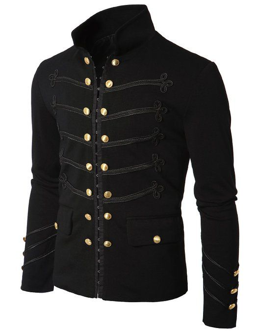 Ahkira Mens Jacket with Button Detail