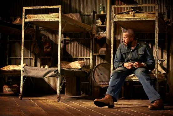 "Chris O'Dowd as Lennie Small From ""Of Mice and Men"" 2014 Broadway production"