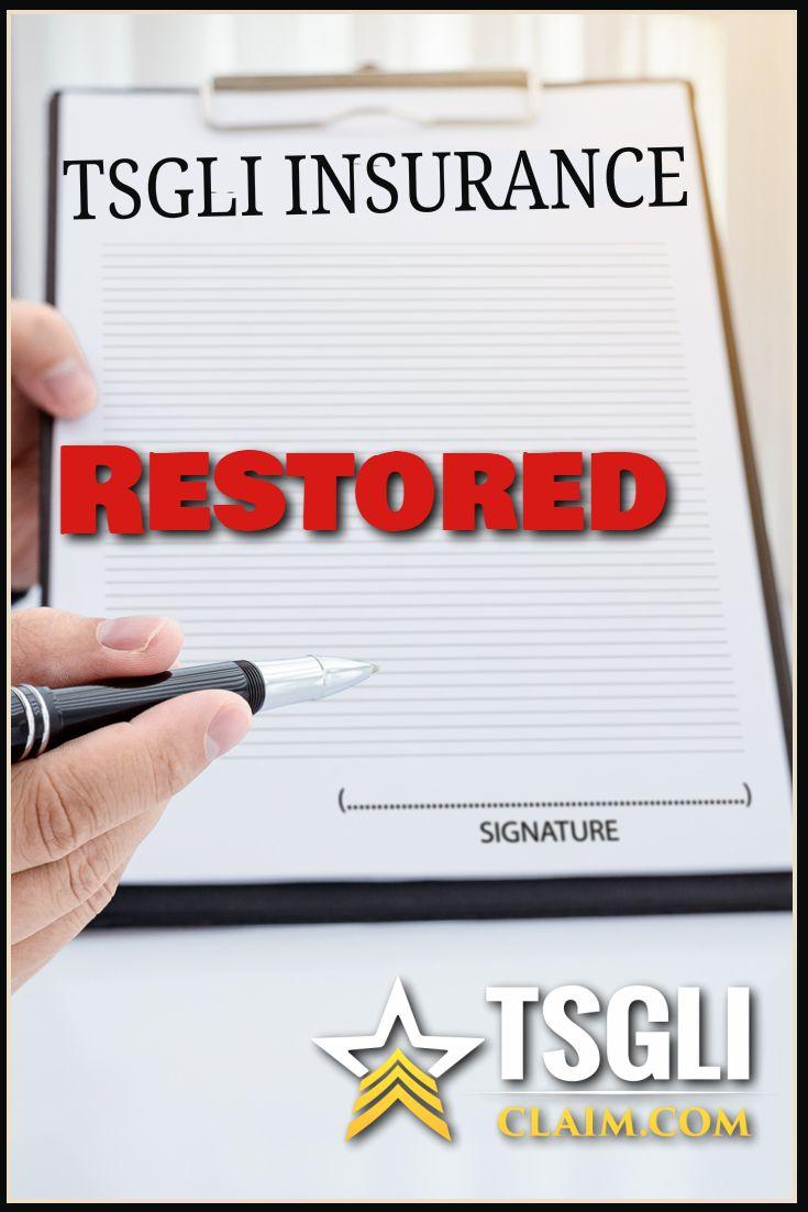 Restore Tsgli Coverage Restoration Coverage Group Life Insurance