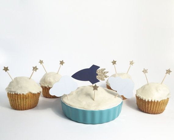 Make you little ones birthday wish come true with these space cupcake toppers. Perfect for cupcakes or a full cake at a space birthday party! This