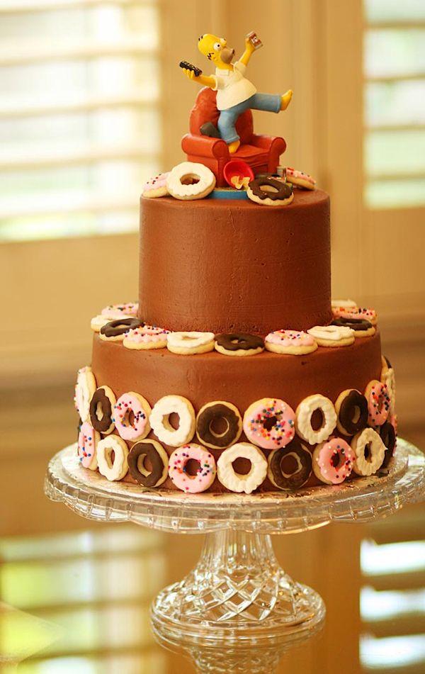 Homer Simpson groom cake