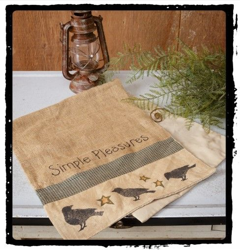 Simple Pleasures Crow Table is a wonderful runner for any primitive table. Purchase yours at Old Country Crows on line.