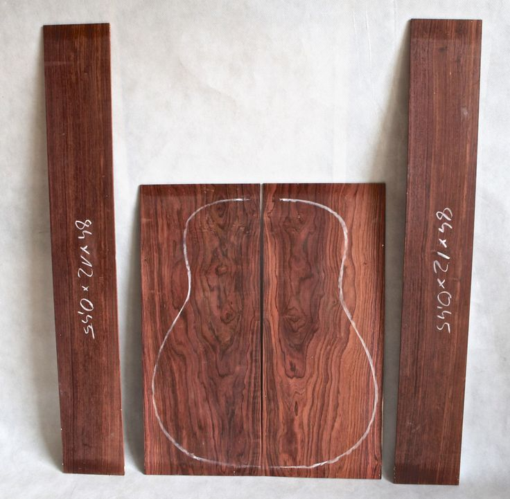 cocobolo wood set for acoustic guitar