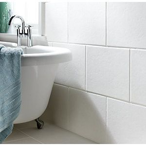 wickes travertino grey gloss ceramic tile 400x300mm